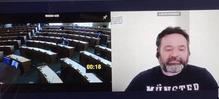 Σε εκρηκτικό κλίμα η πρώτη παρέμβαση Λαγού στο Ευρωκοινοβούλιο από τις φυλακές Δομοκού